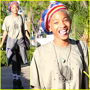 Willow Smith Wears Socks with Marijuana Leaves on the Front