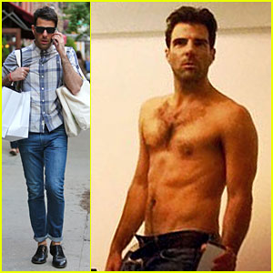 Zachary Quinto Steps Out After Sharing Sexy Shirtless Selfie!