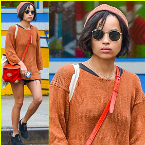 Zoe Kravitz Hangs in New York as 'Insurgent' Begins Filming in Atlanta!