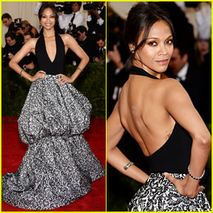 Zoe Saldana Keeps it Fierce on Met Ball 2014 Red Carpet