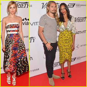 Zoe Saldana & Marco Perego Hit Cannes 'Relativity at 10' Party!