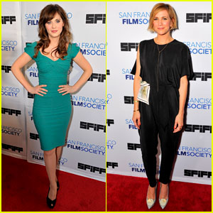 Zooey Deschanel & Kristen Wiig Hit the San Francisco Film Fest!