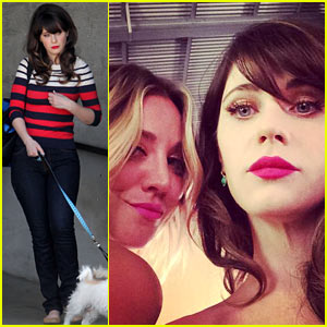 Zooey Deschanel's New Best Friend: Kaley Cuoco!