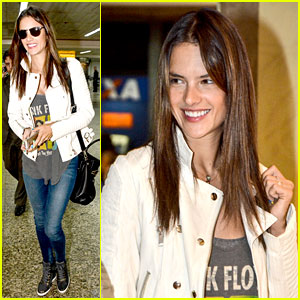 Alessandra Ambrosio Is a Pink Floyd Groupie While Traveling!