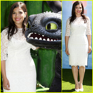America Ferrera Screens 'How To Train Your Dragon 2' in London