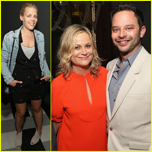 Amy Poehler & Busy Philipps Support Jenny Slate's 'Obvious Child' at Hollywood Screening!