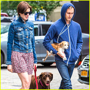 Anne Hathaway & Adam Shulman Add a Furry New Friend to Their Family!