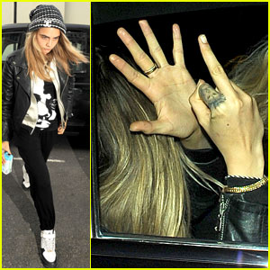 Cara Delevingne Flips Off the Paparazzi After Grabbing McDonald's
