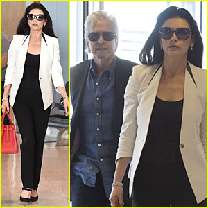 Michael Douglas Says Things Are Great with Catherine Zeta-Jones!
