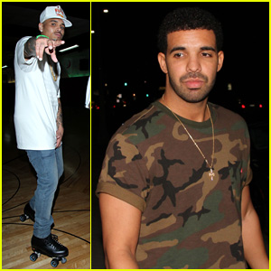 Drake & Chris Brown Step Out Before BET Awards 2014!