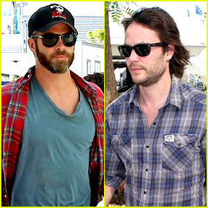 Chris Pine & Taylor Kitsch Give Us Eye Candy at Kings Game!