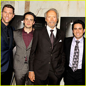 Clint eastwood amp jersey boys cast look handsome at nyc screening