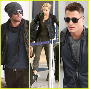 Colton Haynes & Kellan Lutz Head Out Of Toronto After MMVAs
