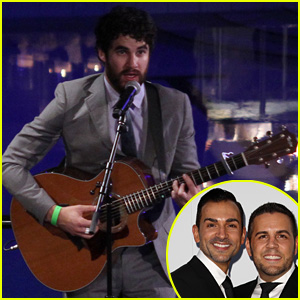 Darren Criss Performs at Prop 8 Couple's Wedding Celebration!