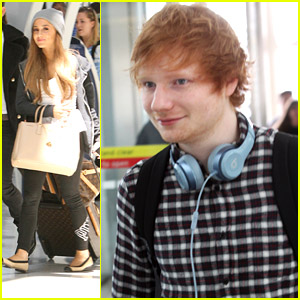 Ariana Grande & Ed Sheeran Jet Out of Toronto After MMVAs 2014
