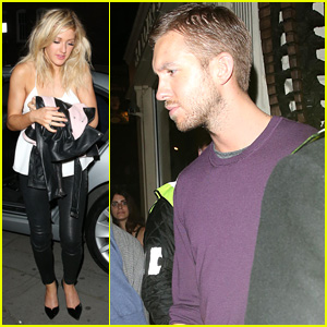Ellie Goulding & Calvin Harris Share Car After London Night Out