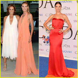 Heidi Klum & Alessandra Ambrosio Brighten Up the Night at CFDA Fashion Awards 2014