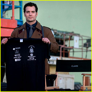 Henry Cavill Pictured on 'Batman v Superman' Set for First Time!