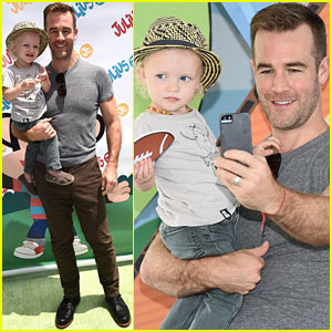 James Van Der Beek is One Hunky Dad at Toy Launch with Son Joshua!