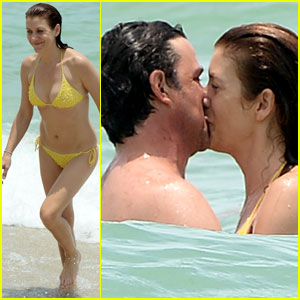 Kate Walsh Makes Out with Her Boyfriend in the Ocean!