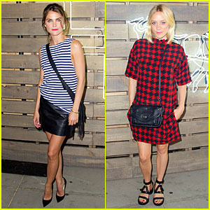 Keri Russell & Chloe Sevigny Get Ready For Summer at The HighLine!