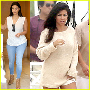 Kim Kardashian Shops For North, Kourtney Does Pregnant Photo Shoot!