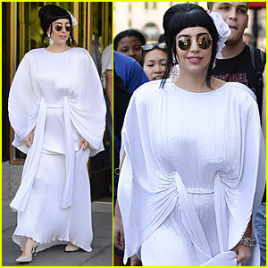 Lady Gaga Brings the Beat Back to Arlene's Grocery, Spotted in Kimono-Like Dress