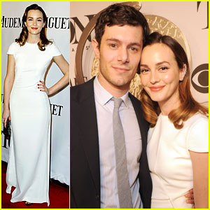 Leighton Meester & Adam Brody Make First Appearance as Married Couple at Tony Awards 2014!