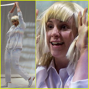 Lena Dunham Performs Interpretive Dance to Sia\'s \'Chandelier\' on ...