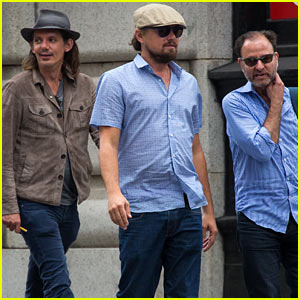 Leonardo DiCaprio Hangs With Friends After Lunch in NYC