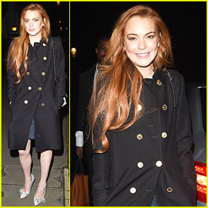 Lindsay Lohan Looks Happy to Change It Up for Dinner!