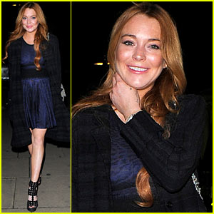 Lindsay Lohan Changes Up Her Look to Some Party Wear for Night Out!