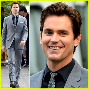 Matt Bomer's Beautiful Smile Lights Up the 'White Collar' Set!