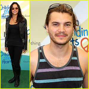 Michelle Rodriguez & Emile Hirsch Fundraise For Disadvantaged Youth!