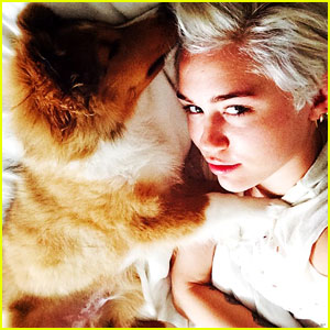 Miley Cyrus Welcomes Emu Coyne Cyrus Into Her Life - See The Adorable Pic Here!