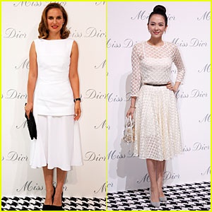 Natalie Portman & Ziyi Zhang Look Beautiful in White at Miss Dior Exhibition!