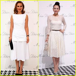 Natalie Portman & Ziyi Zhang Look Beautiful in White at Miss Dior Exhibition!