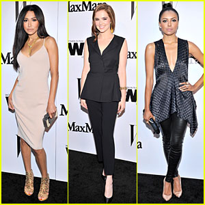 Naya Rivera & Zoey Deutch Look Super Chic at MaxMara Party!