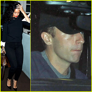 Rihanna & Chris Martin Share a Friendly Dinner at Giorgio Baldi