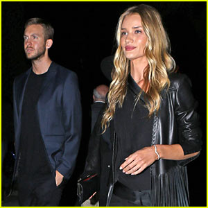 Rosie Huntington-Whiteley & Calvin Harris Have Dinner Together!