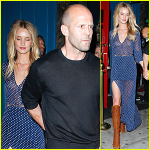 Rosie Huntington-Whiteley's Sheer Dress Really Shows Off Her Assets!