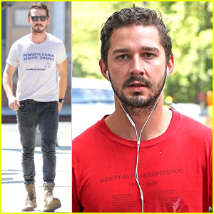 Shia LaBeouf Rocks a Vintage Top to Run Errands!