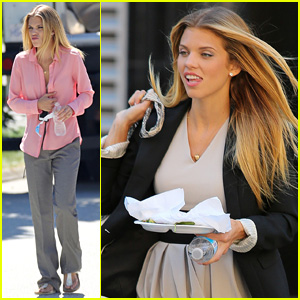 AnnaLynne McCord Shares a Laugh on Lunch Break