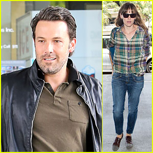 Ben Affleck Fuels Up, Jennifer Garner Jets Out of LAX Airport