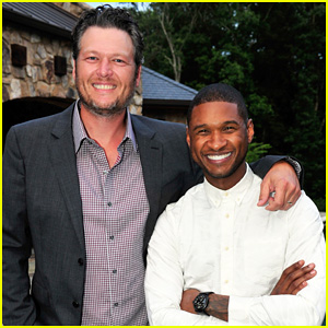 Blake Shelton Surprises Usher at His New Look Foundation 15th Anniversary Kick Off Celebration!
