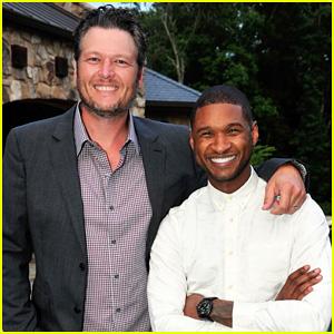 Blake Shelton Surprises Usher at His New Look Foundation 15th Anniversary Kick Off Celebration!