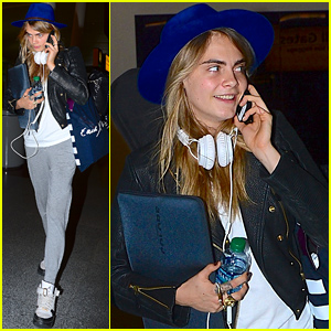 Cara Delevingne Looks Like She's Ready for a Long Flight!
