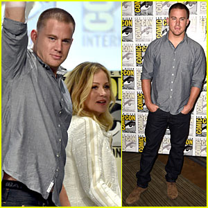 Channing Tatum Joins Rapper Biz Markie For 'Just a Friend' Performance During Comic-Con Panel - Watch Now!