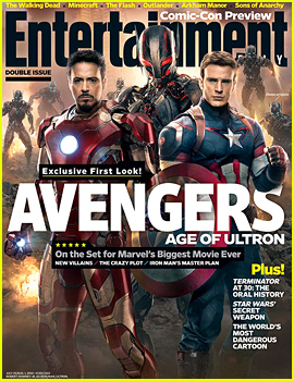 Chris Evans & Robert Downey, Jr. Represent the 'Avengers' Alongside Ultron on EW's Comic-Con Preview Cover!