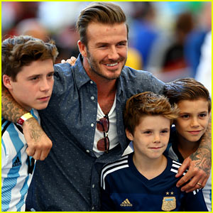 David Beckham Poses For Adorable Picture with All His Sons at the World